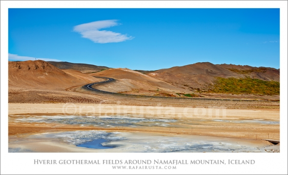 Hverir geothermal fields around Namafjall mountain, Myvatn lake area Iceland