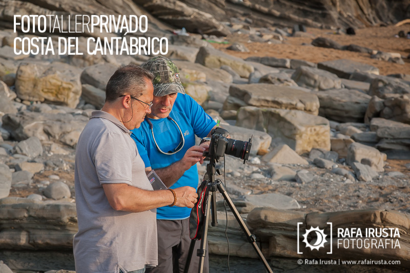 Taller Privado Fotografía de Costa, Enseñando fotografía a un alumno