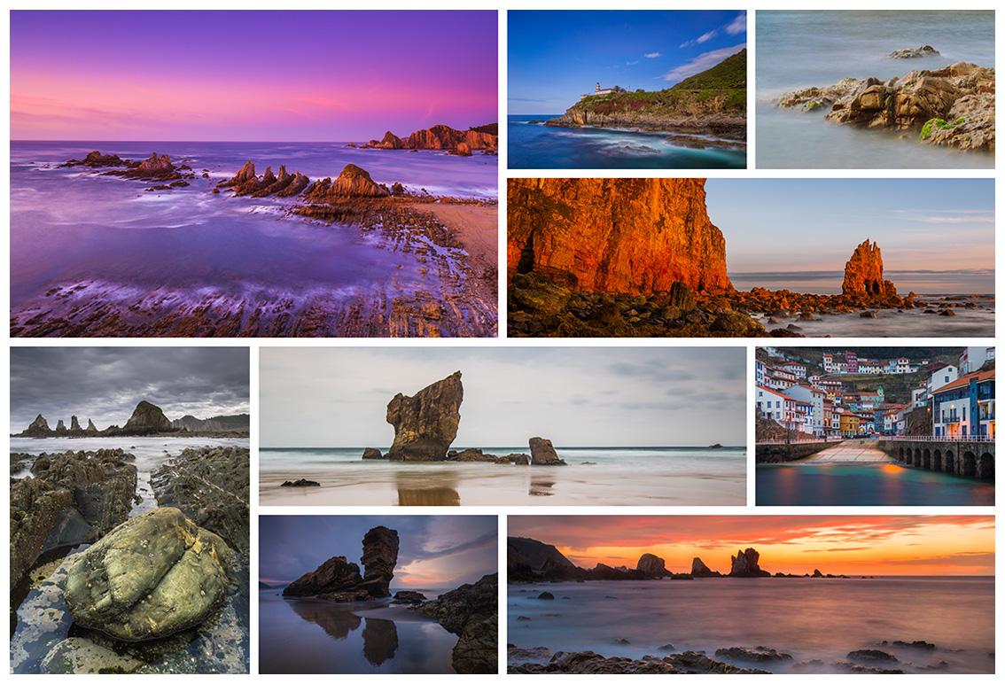 Taller de Fotografía Costa de Asturias varias imágenes