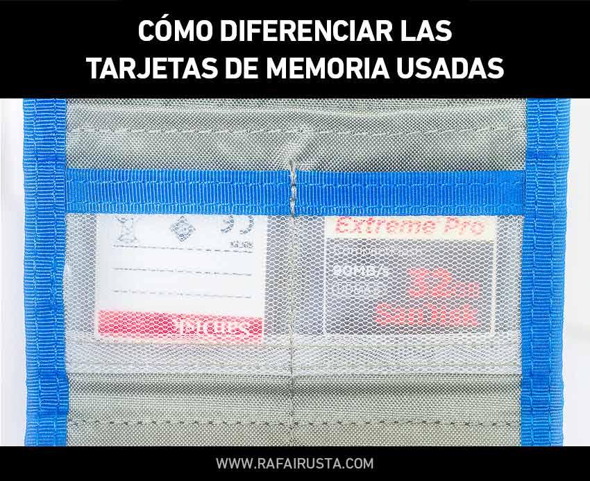 Consejo fotografico diferenciar tarjetas memoria llenas