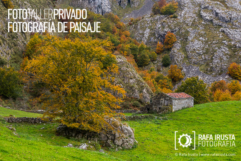 Taller Privado Fotografía de Paisaje, Vieja cabaña a los pies de la montaña en Cantabria