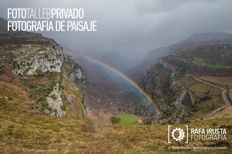 Taller Privado Fotografía de Paisaje, Arco iris en Cantabria