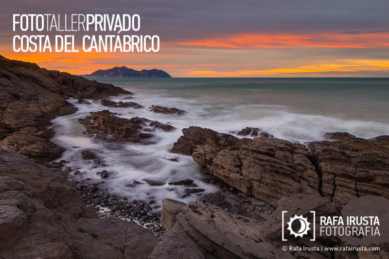 Taller Privado Fotografía de Costa, Atardecer en la Costa de Cantabria