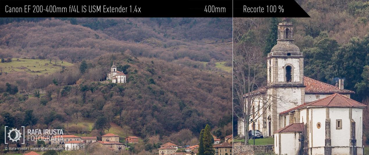 Probando Canon EF 200-400mm f/4L IS, recorte 100 %