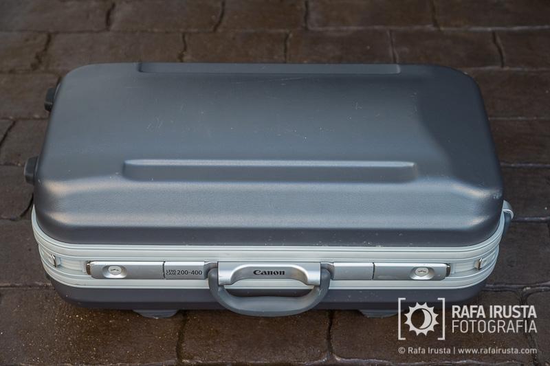 Probando Canon EF 200-400mm f/4L IS, maleta de transporte