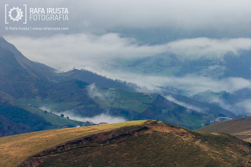 Probando Canon EF 200-400mm f/4L IS, paisaje con niebla baja