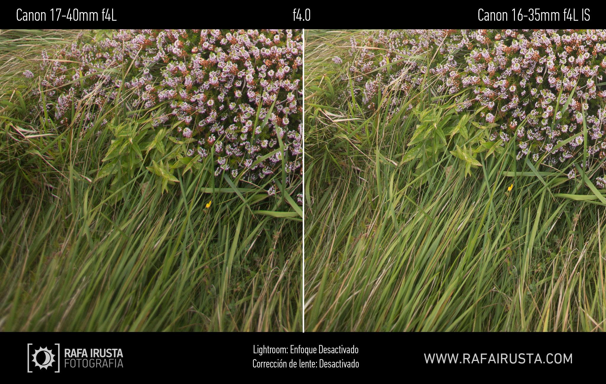 Prueba Canon 16-35mm f/4L IS, comparativa 17-40 vs 16-35 sin enfoque y sin ajuste de perfil, f4