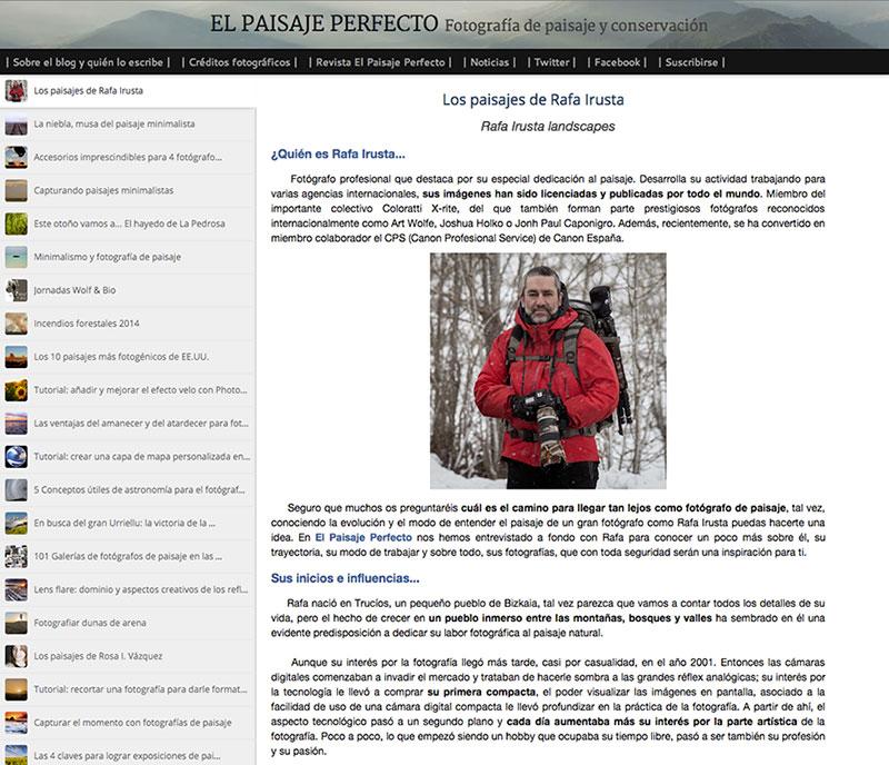 Entrevista El Paisaje Perfecto