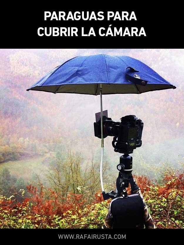 Consejo fotográfico paraguas para cubrir la cámara
