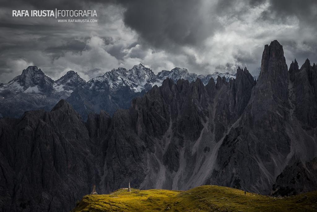 Dolomitas, Italia, escala en fotografía de paisaje