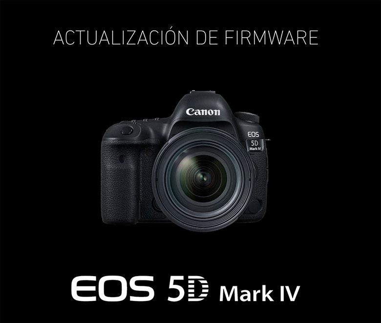 Cómo actualizar firmware 5D Mark IV