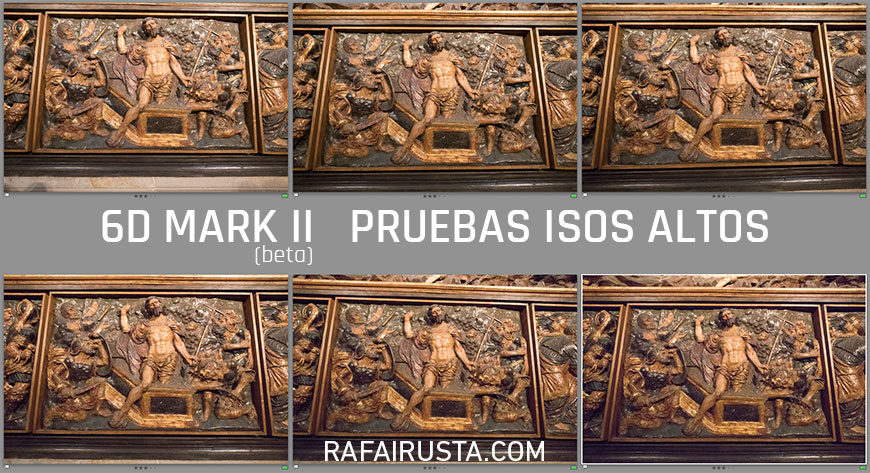 Pruebas Canon 6D Mark II a ISOS altos en interior