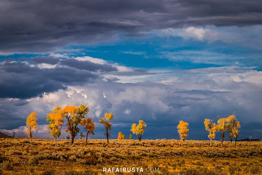 Luz después de la tormenta, Grand Teton National Park, USA