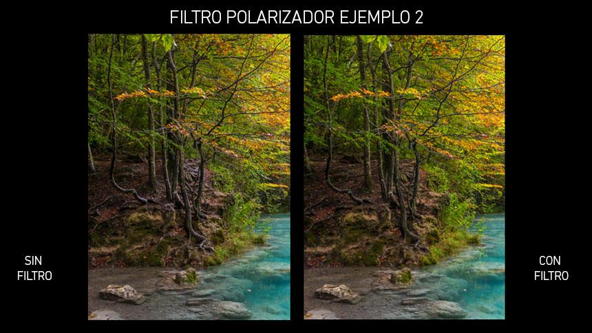 Filtro Polarizador en Fotografia de Pasiaje, ejemplo 2