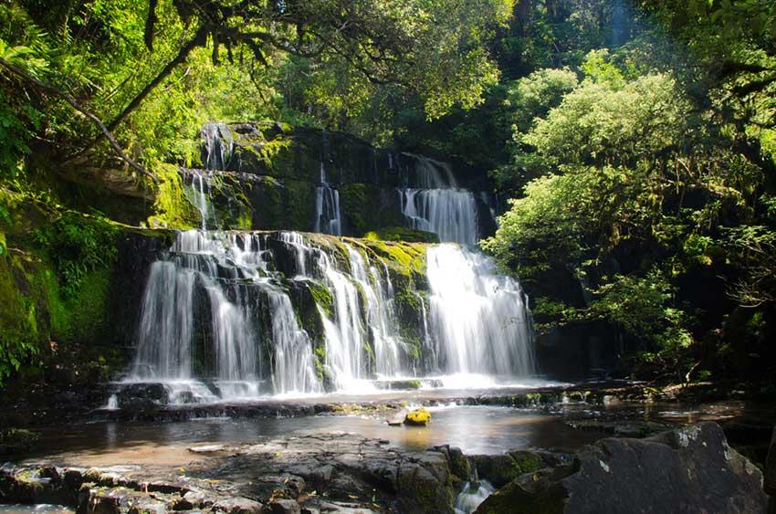 Purakaunui Falls, Catlins, Nueva Zelanda, Foto de Sandra Vallaure