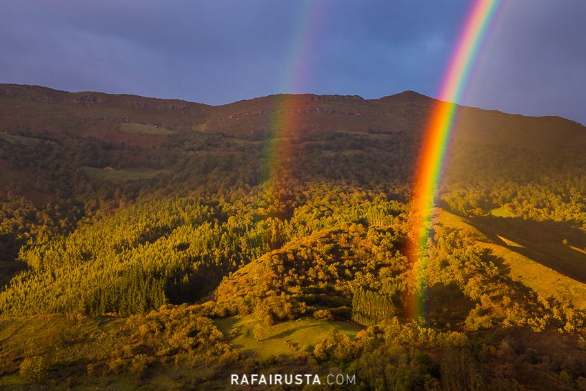 Doble arco iris en Cantabria