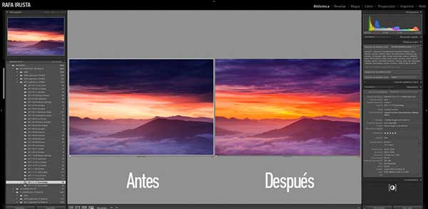 Taller Privado Lightroom, antes y después