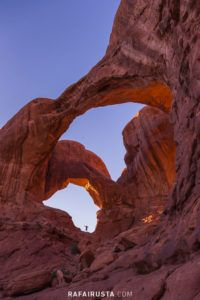 Double Arch, Arches National Park, Utah, USA