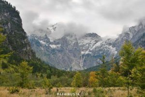 Totes Gebirge Mountains from to Almsee, Austria