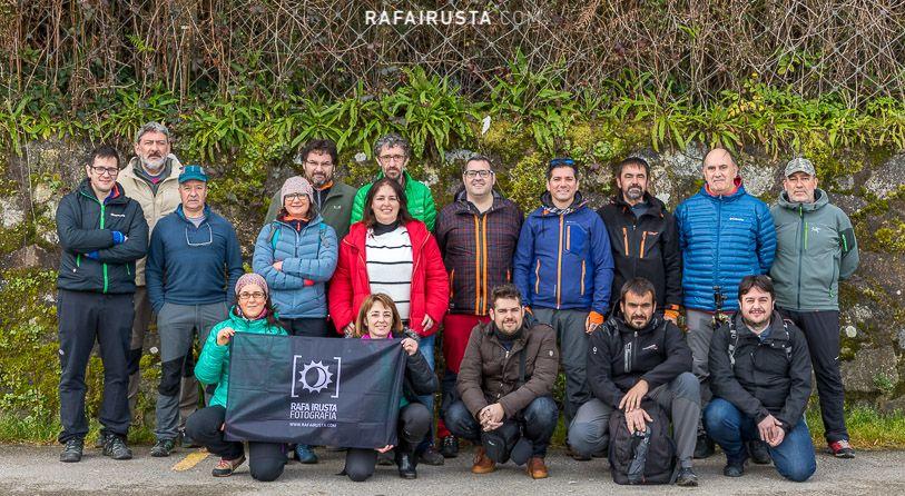 Taller Fotografía Costa Asturias marzo 2018, foto de grupo