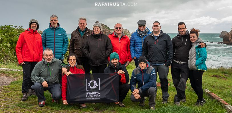 Taller Fotografía Costa Cantabria mayo 2018, foto de grupo