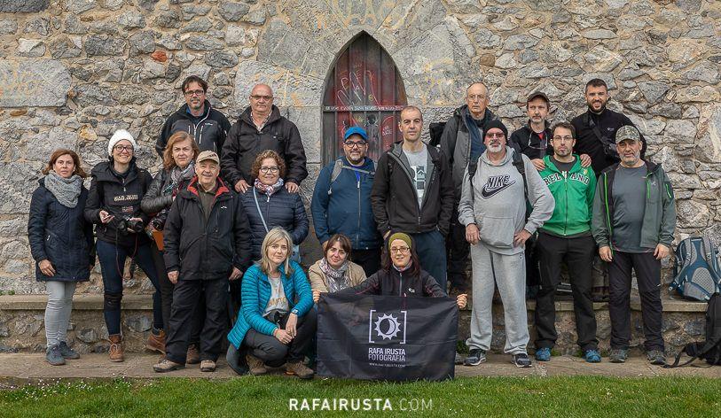 Taller Fotografía Costa Bizkaia abril 2018, foto de grupo