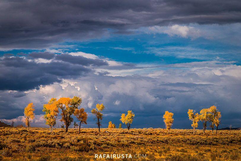 Consejos para fotografiar en otono, cielo tras la tormenta