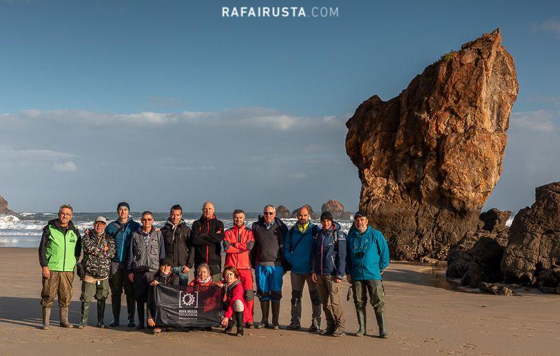 Taller Fotografía Costa Asturias octubre 2018, foto de grupo