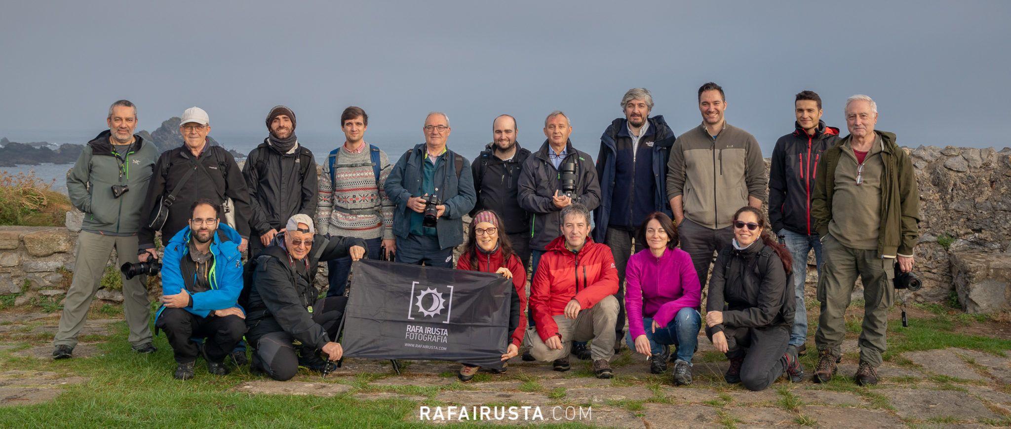 Taller Fotografía Costa Bizkaia octubre 2018, foto de grupo