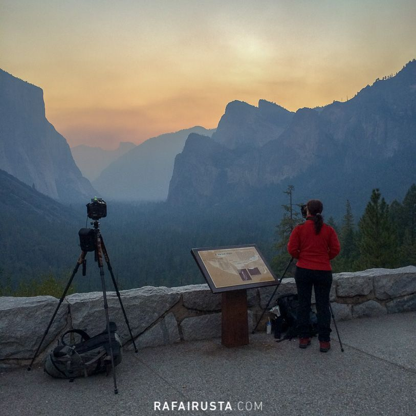 Muro en el mirador de Tunnel View, Yosemite, USA