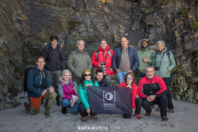 Taller Fotografía Costa Galicia, resumen 2019, foto de grupo