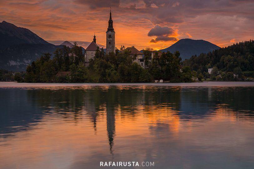 Amanecer en Lago Bled, Eslovenia