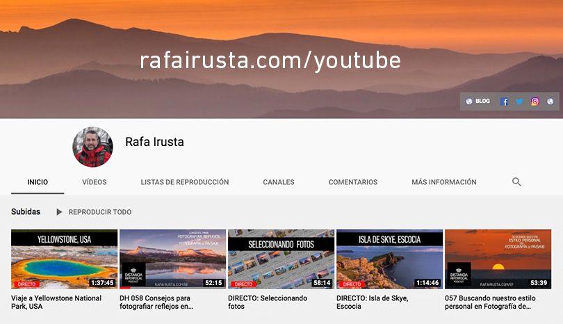 Rafa irusta, canal en YouTube