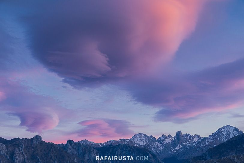 Atardecer en Picos de Europa, Asturias