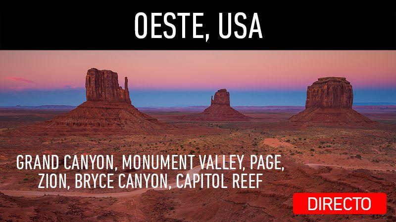Directo en mi canal de YouTube. Viaje al Oeste de USA, parte 2. Visitando Grand Canyon, Monument Valley, Zion, Bryce Canyon, Capitol Reef.