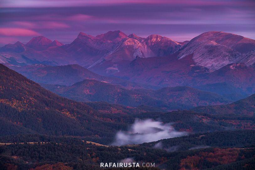 Luz crepuscular, Pirineos desde Navarra