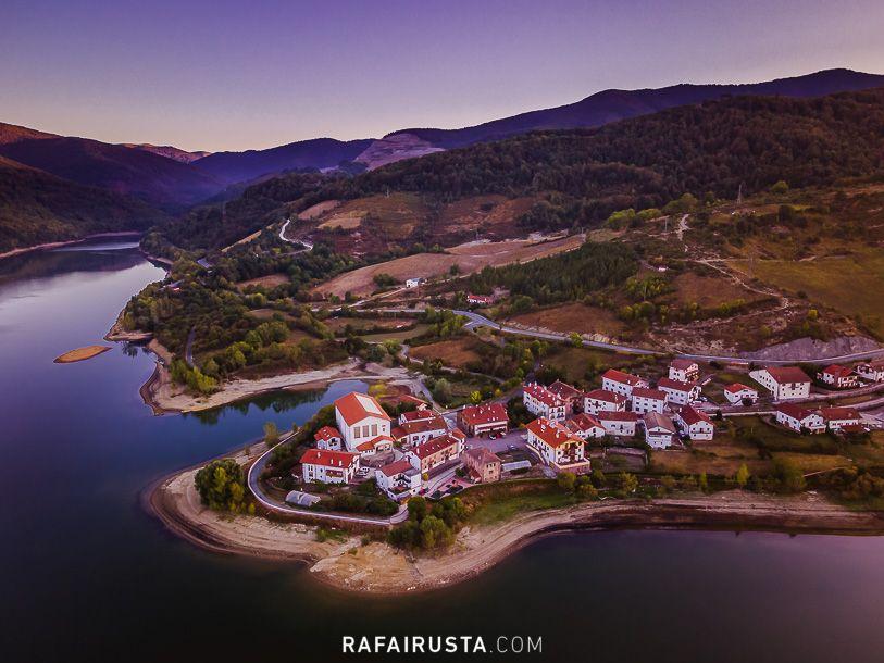 Rafa Irusta, imagen aérea con dron, Eugui, Navarra