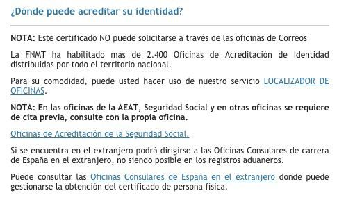 Dónde acreditar identidad Certificado Digital