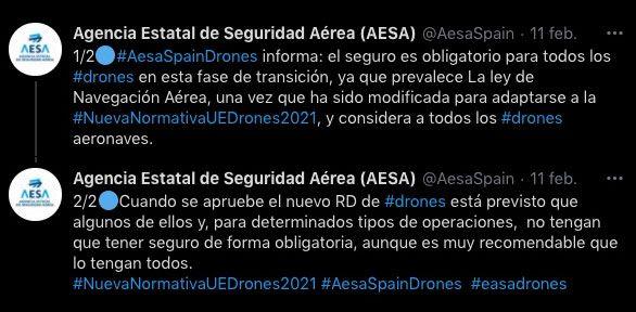 AESA Seguro RC obligatorio