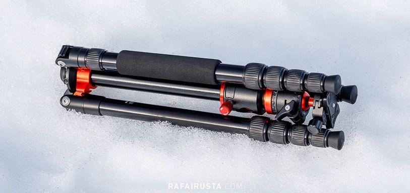 Trípode K&F Concept TM2515T1, plegado