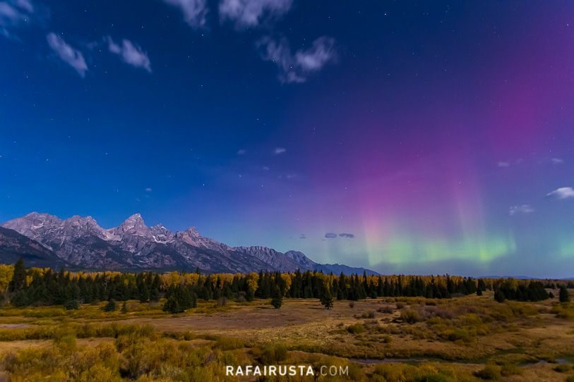 Auroras boreales, Grand Teton National Park, USA