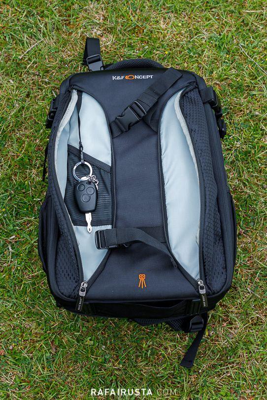 Mochila Fotográfica K&F Concept KF13.084, dotada de múltiples bolsillos