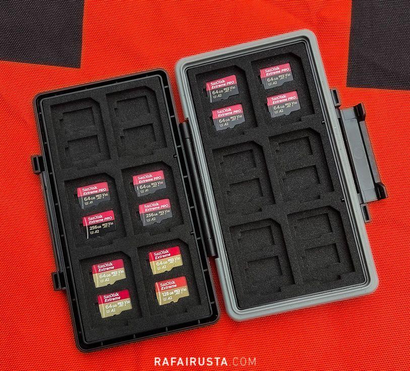 Tarjetas microSD y baterías del dron DJI Air 2s